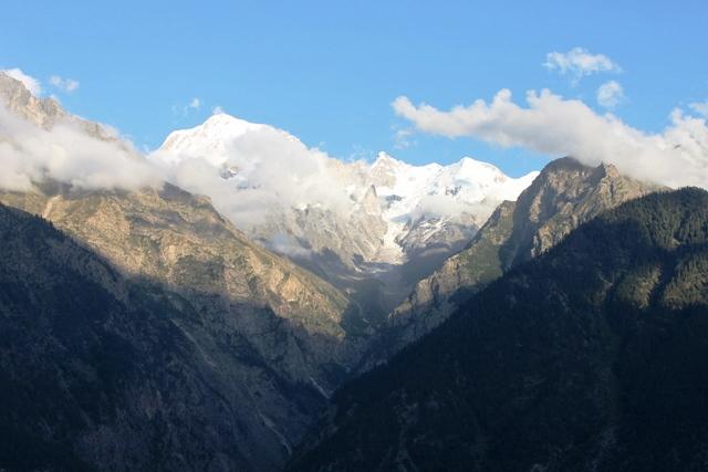 スピティ 観光:6,000メートル級のキンナー・カイラス山