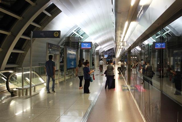 ドバイ空港第1ターミナル駅のホーム