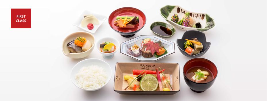 アビアンカ航空 マイル ANA ファーストクラス:ANAファーストの機内食 ※ANA公式サイトより