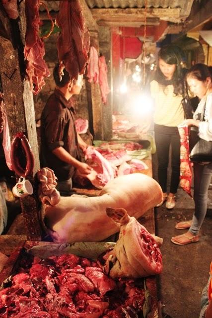 豚肉解体所