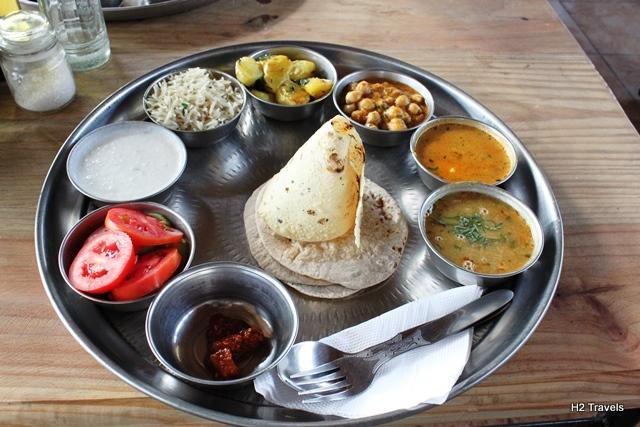 美味しかったインド料理のターリー