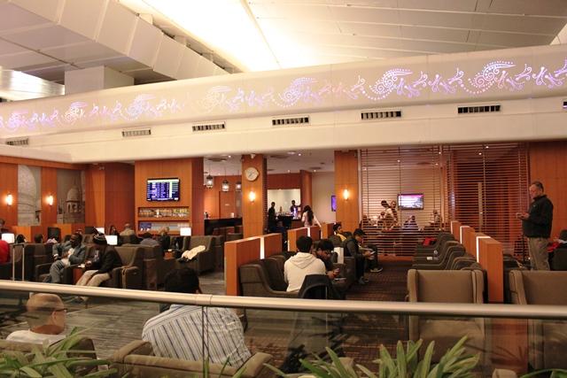デリー空港 JAL ラウンジ:ラウンジの全景