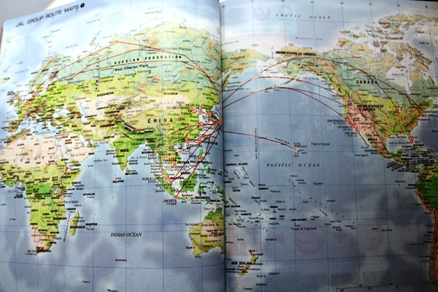 JAL国際線路線マップ