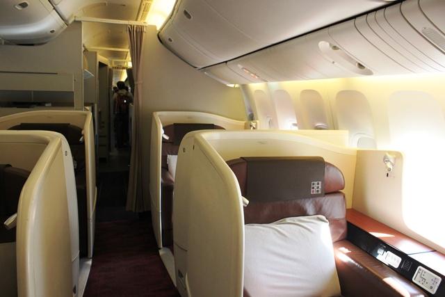 JAL ファーストクラス 搭乗記:ファーストクラスキャビン