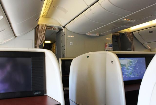 座席から眺める機内