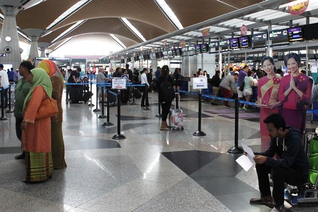 タイ国際航空チェックインカウンター
