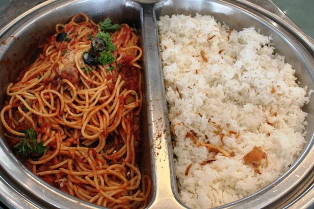 スパゲティーと白米