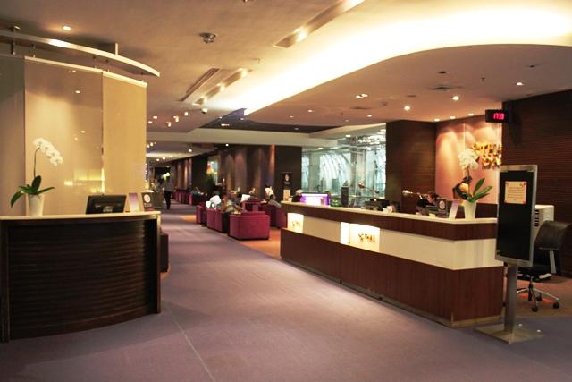 スワンナプーム空港 タイ航空 ラウンジ:ラウンジ入口