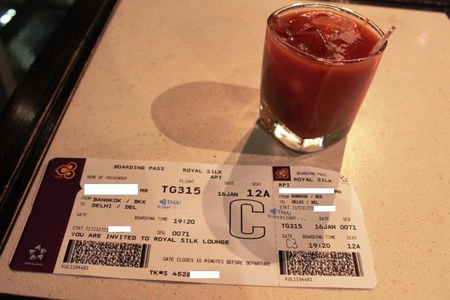 トマトジュースと搭乗券