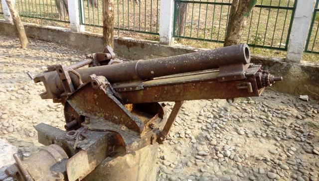戦時中の大砲