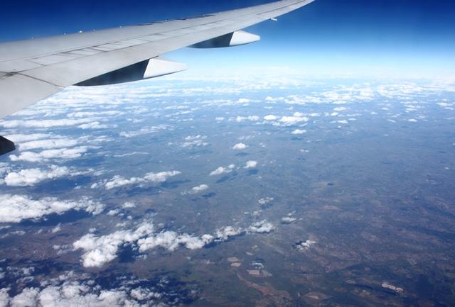 ジンバブエ上空