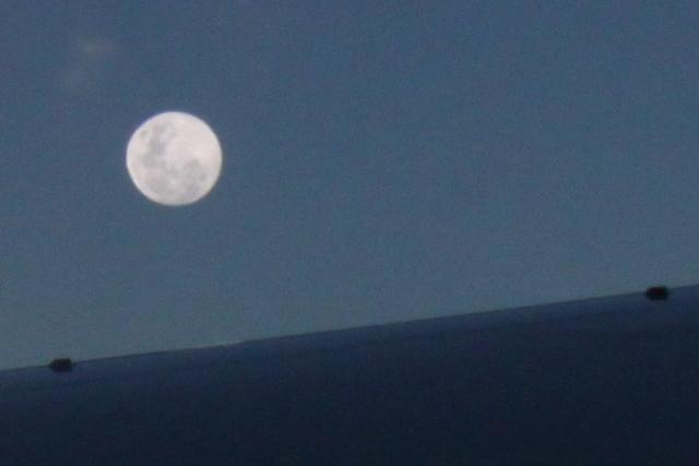 月が昇りました