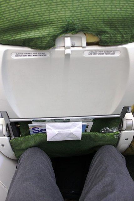 狭いシート
