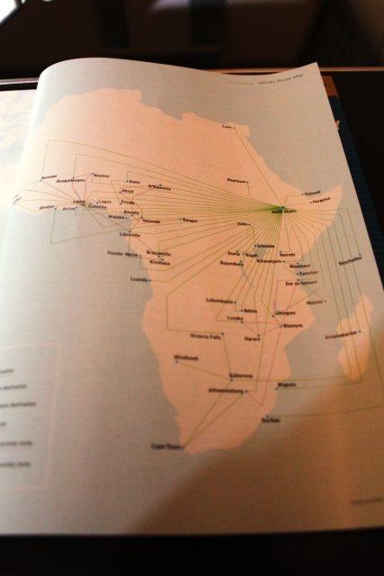アフリカ路線は非常に充実