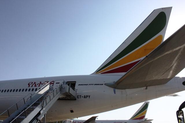 エチオピア航空 ケープタウン:これがケープタン行きB777-300ER機