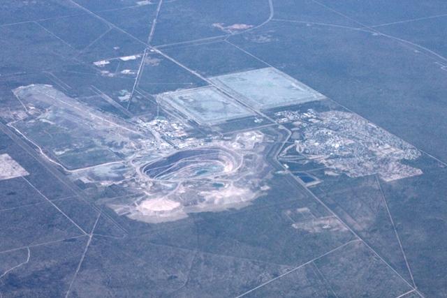 オラパにある世界最大級のダイアモンド鉱山