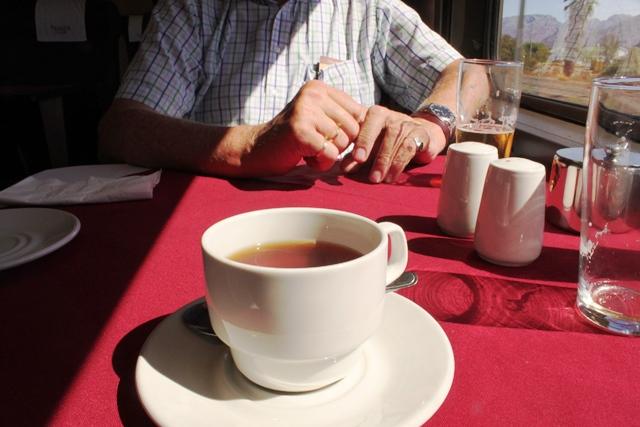 食後に紅茶