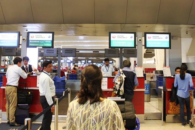 JAL デリー 成田 エコノミー:JALチェックインカウンター