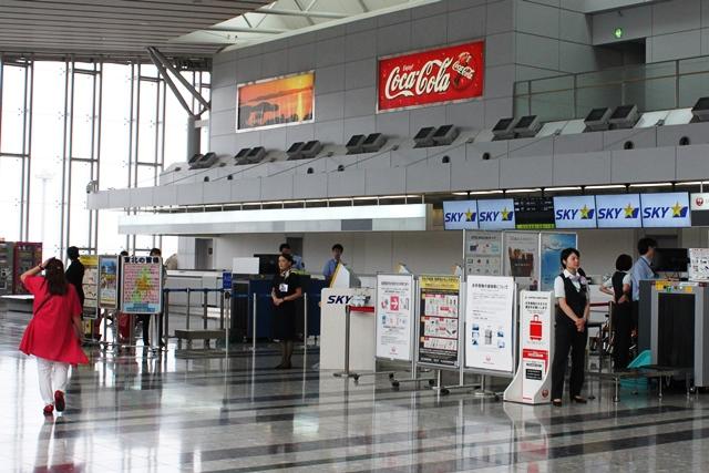 スカイマーク 搭乗記:仙台空港のスカイマークチェックインカウンター