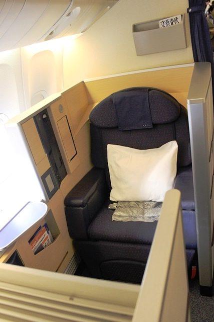 ANA ファーストクラス 搭乗記:2Kのシート