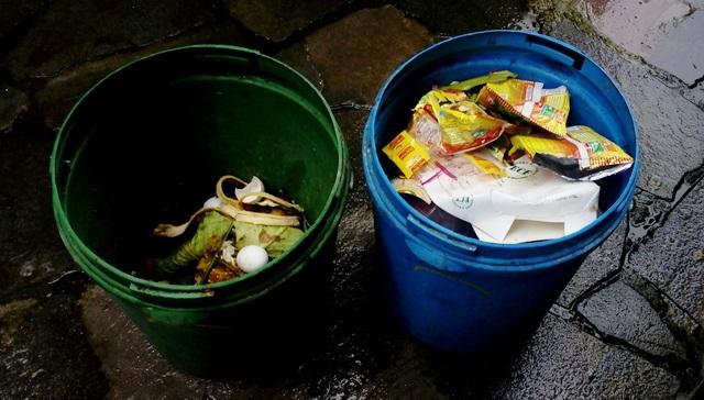 インド ゴミ 分別:分別された家庭のゴミ箱