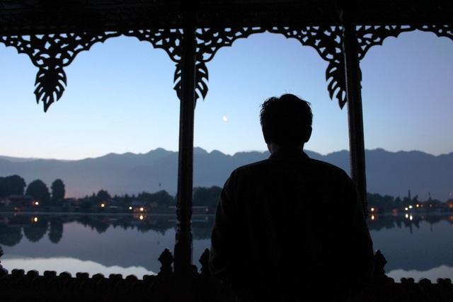本場ハウスボートから眺めるナギーン湖