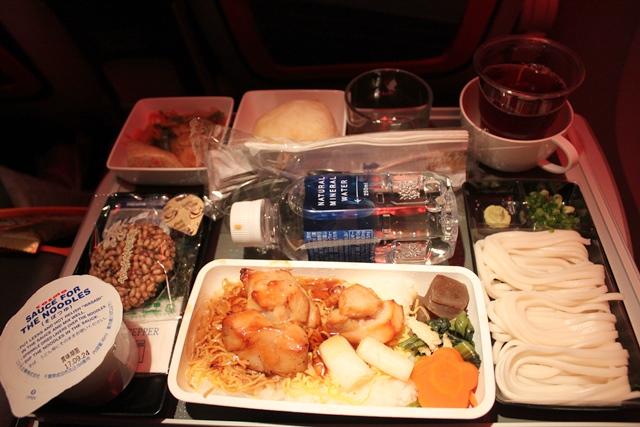シンガポール航空 プレミアムエコノミー ロサンゼルス:夕食は和食