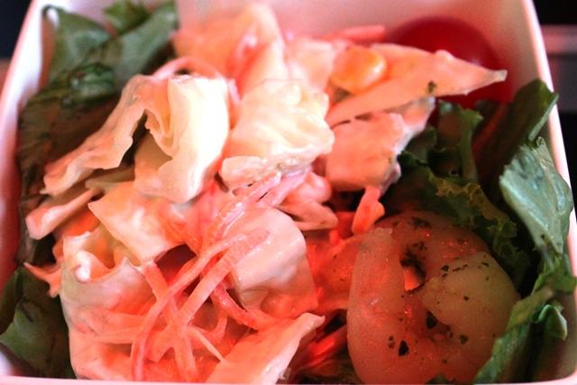 コールスローサラダと小海老