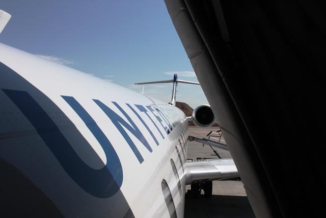 ユナイテッド航空 CRJ:搭乗時