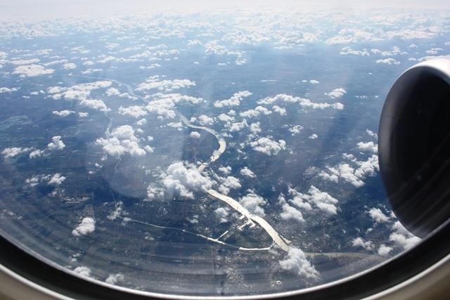 ブダペスト上空