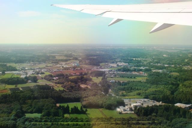 離陸後の成田