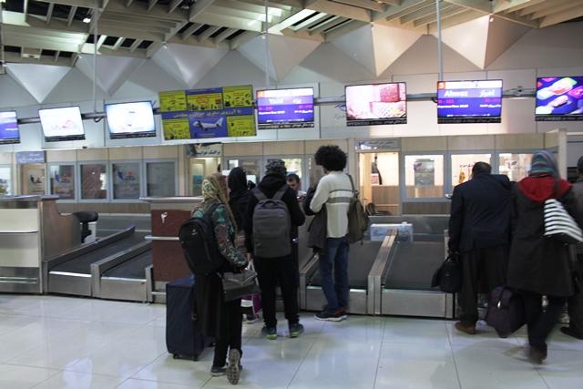イラン航空チェックインカウンター
