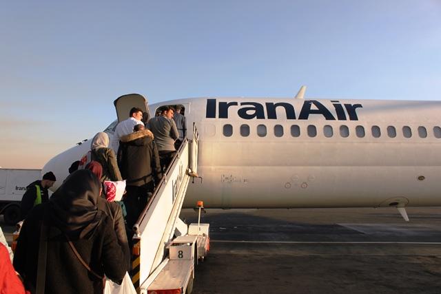 イラン航空 国内線:機内へ