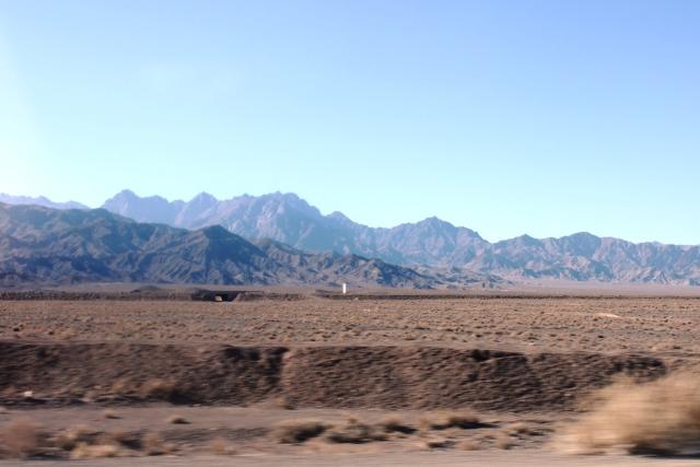 周りは砂漠