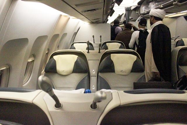 マーハーン航空 ビジネスクラス:ビジネスクラス機内