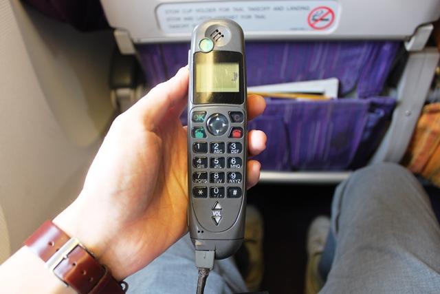 裏側は電話機能