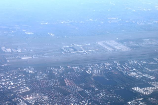 スワナプーム空港を上空から