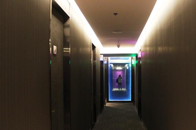 シャワー室・トイレへ通じる廊下