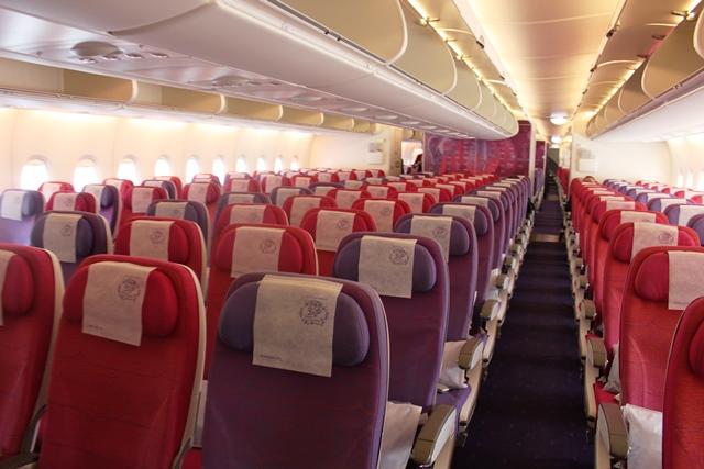タイ航空 A380 エコノミー:エコノミーキャビン