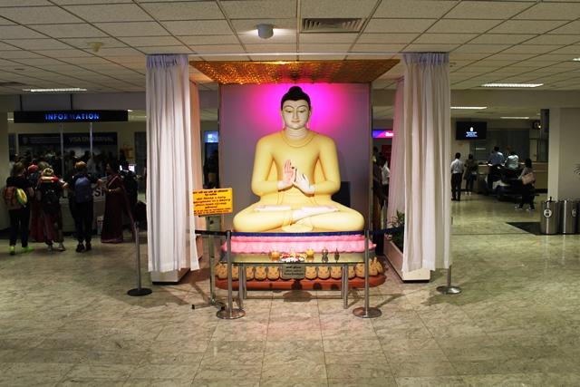 仏陀様のお出迎え