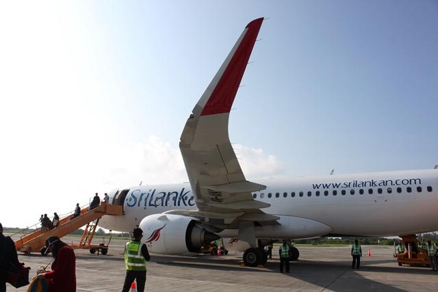 スリランカ航空のA320neo機