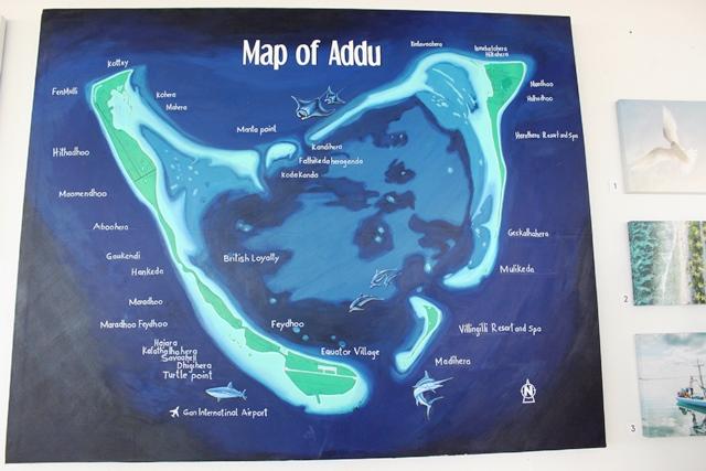 アッドゥ環礁の地図
