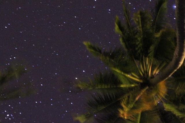 リゾートから眺める夜空