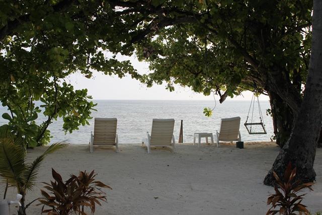 朝のインド洋