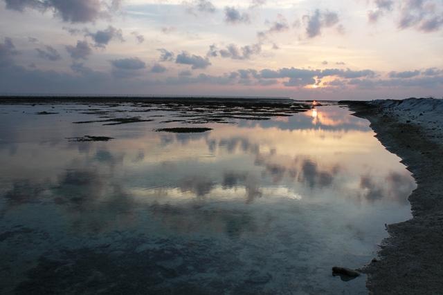 フェイドゥー島から眺める夕焼け