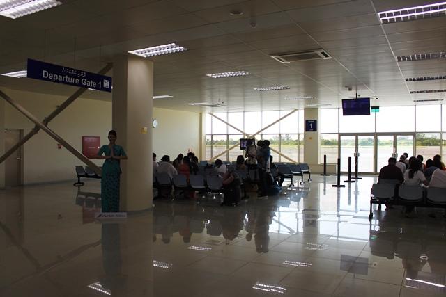 出国手続き後の待合室