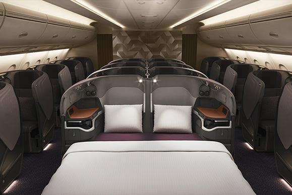 新型A380の真ん中2席はダブルベッドも※