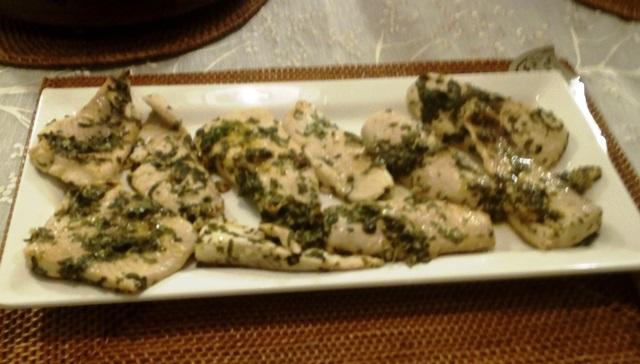 白身魚のハーブ焼き