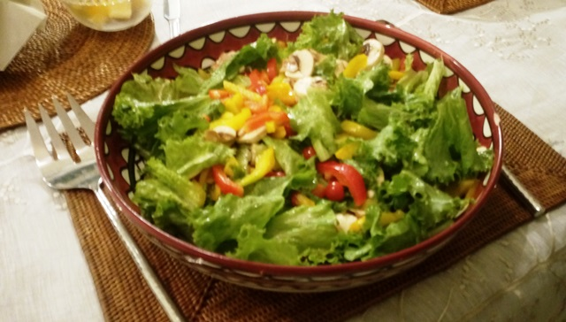 フレッシュサラダ(トマトは自家栽培)