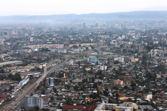 近代的なアディスアベバの中心街